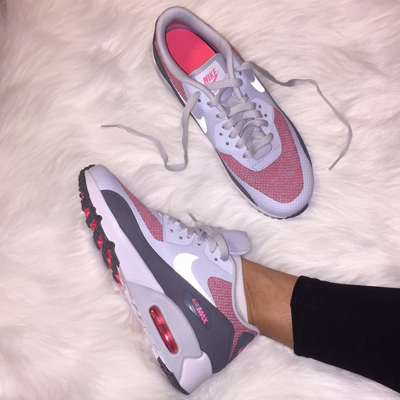new product f2d2c 4c535 Nike Air Max 90 Ultra 2.0 SE (GS) Grey Pink NWT